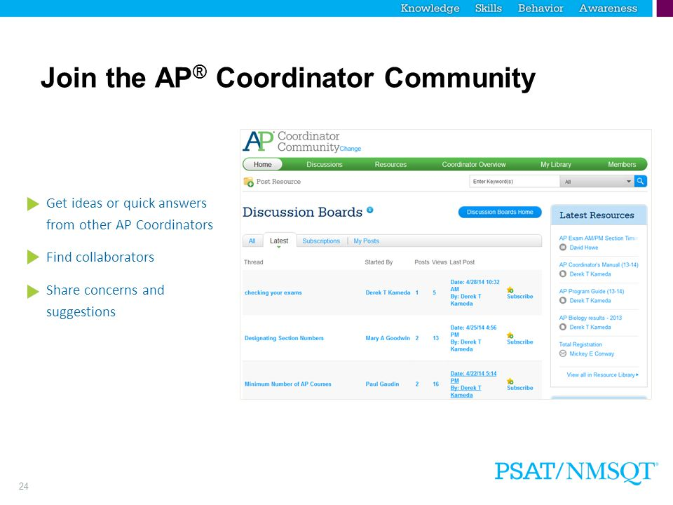 Join the AP® Coordinator Community