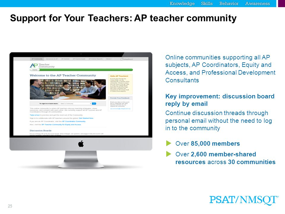 Support for Your Teachers: AP teacher community