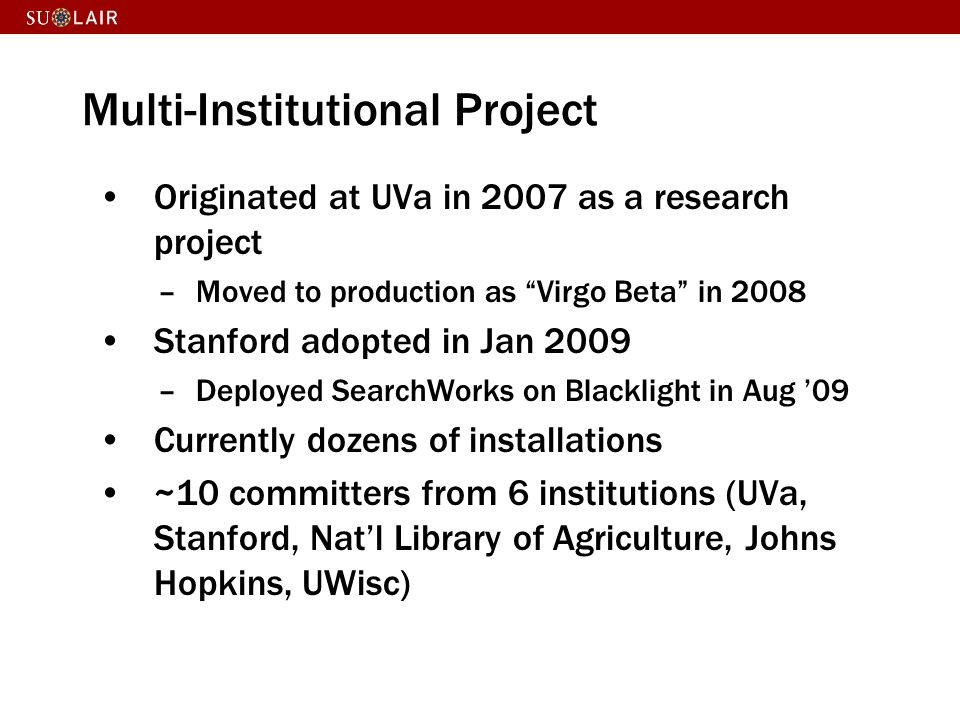 Multi-Institutional Project