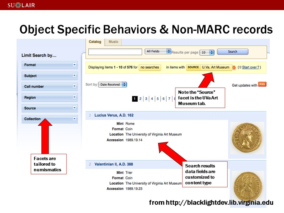 Object Specific Behaviors & Non-MARC records