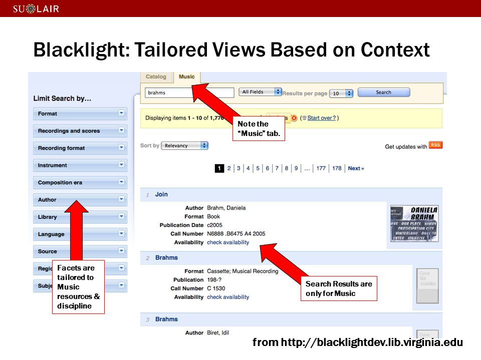 Blacklight: Tailored Views Based on Context