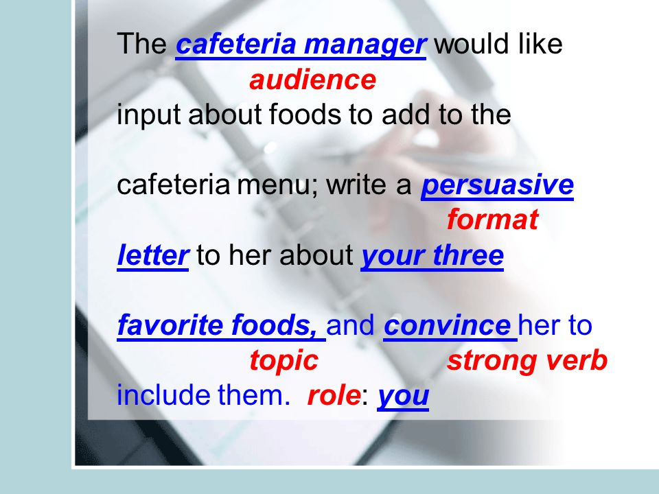 The cafeteria manager would like