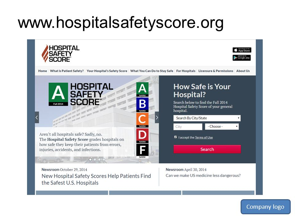 www.hospitalsafetyscore.org Company logo