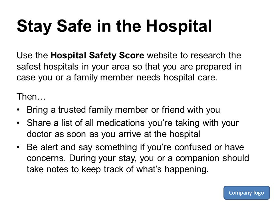 Stay Safe in the Hospital
