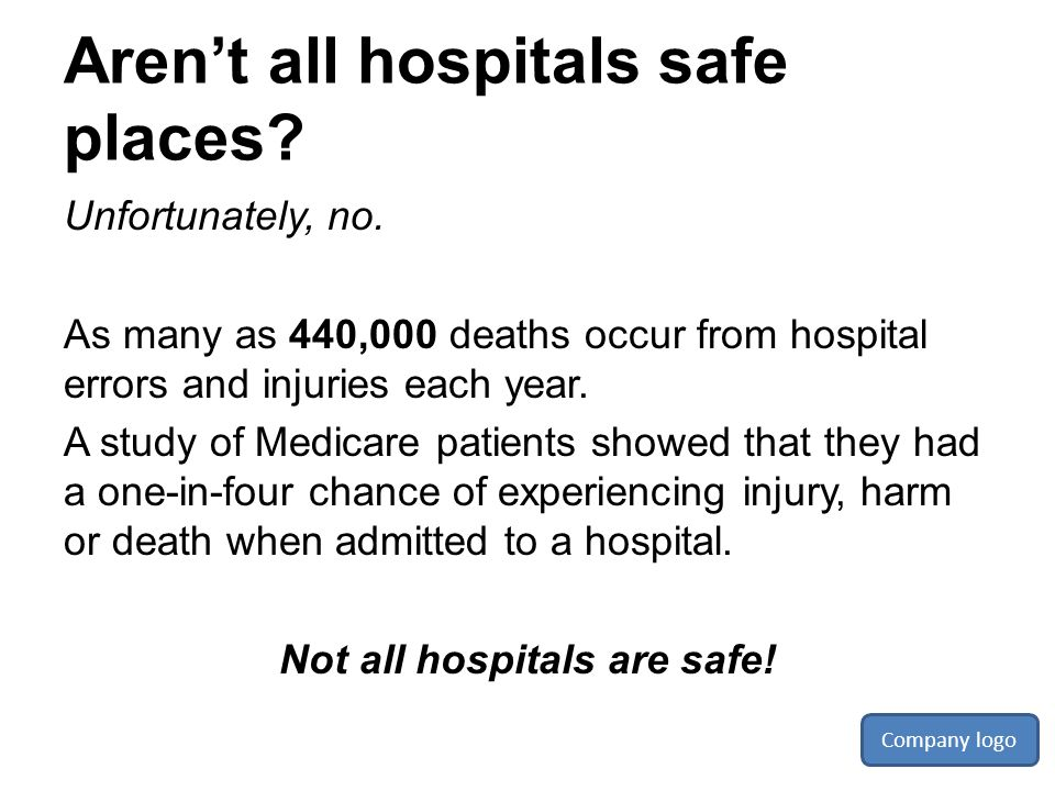 Aren't all hospitals safe places