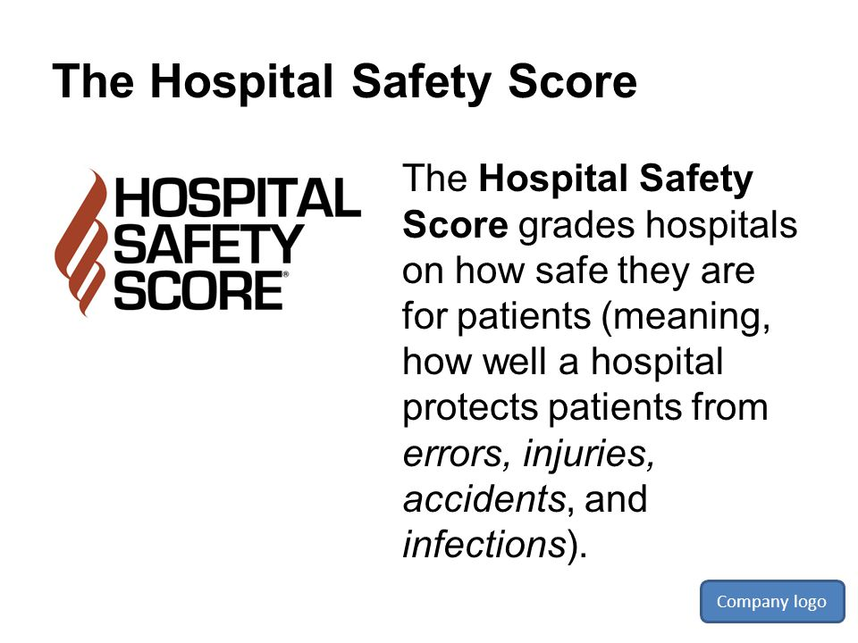 The Hospital Safety Score