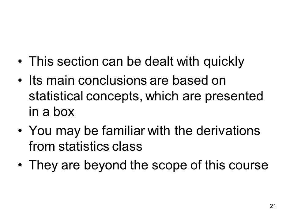 This section can be dealt with quickly