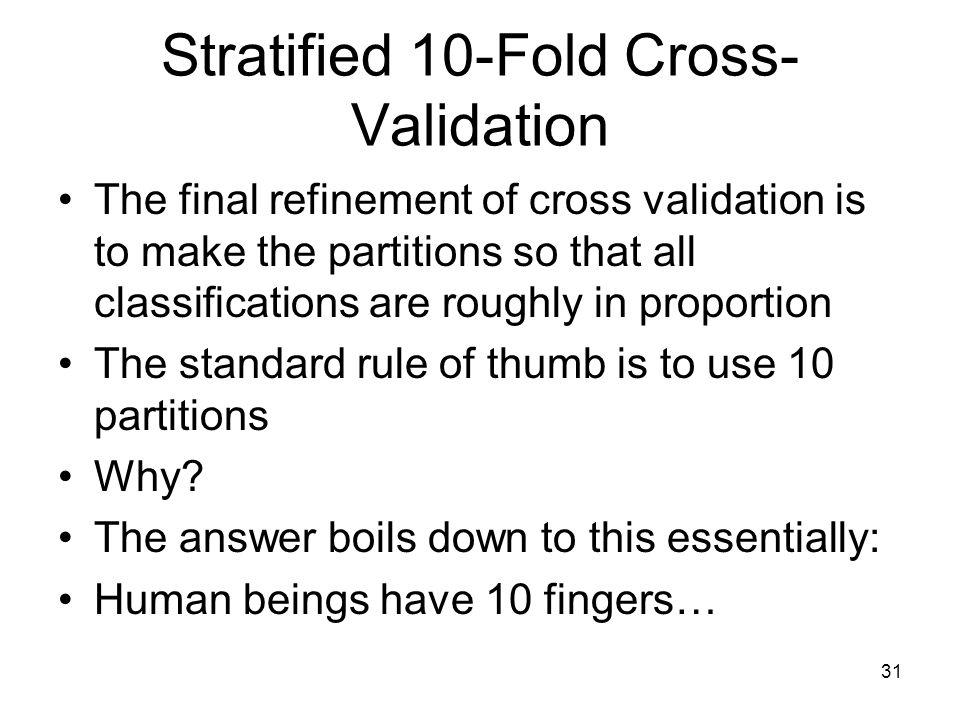 Stratified 10-Fold Cross-Validation