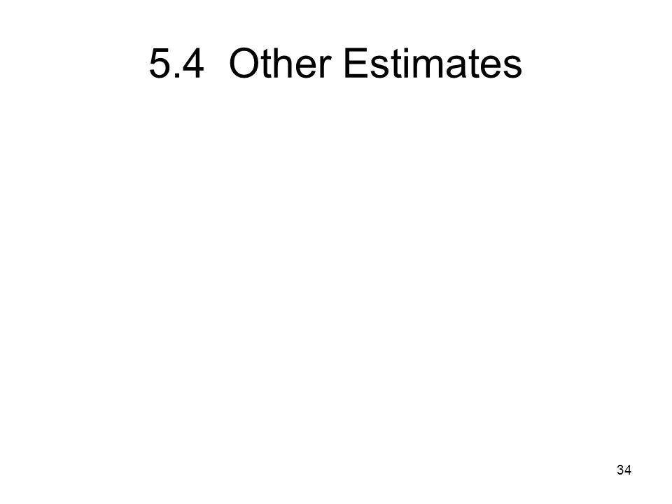 5.4 Other Estimates