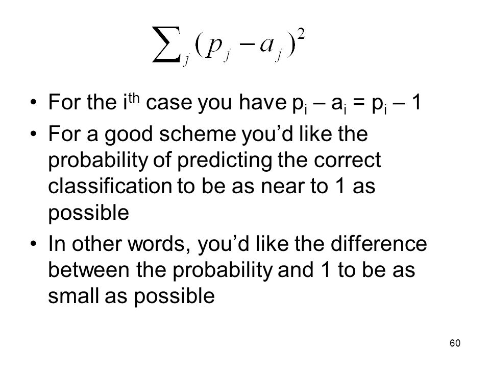 For the ith case you have pi – ai = pi – 1
