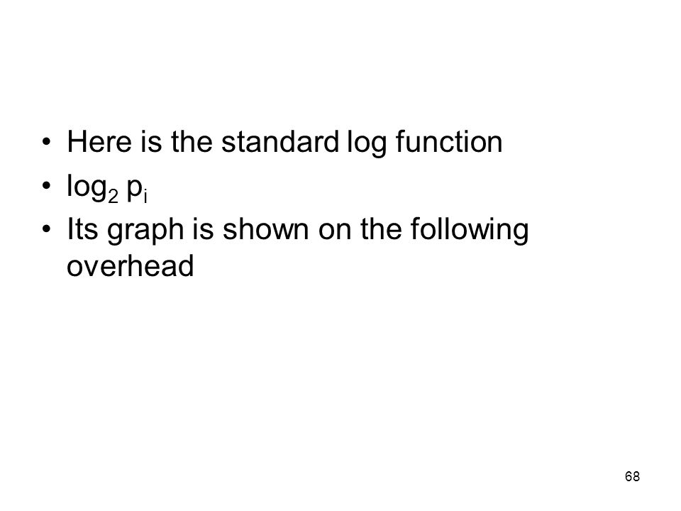 Here is the standard log function