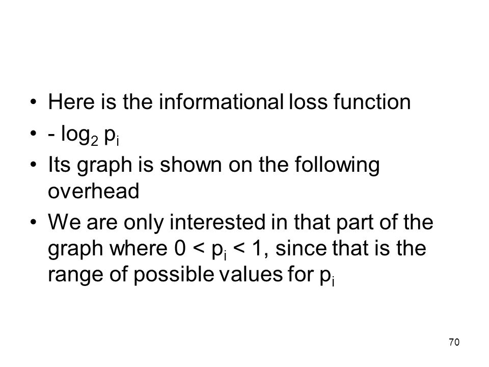 Here is the informational loss function