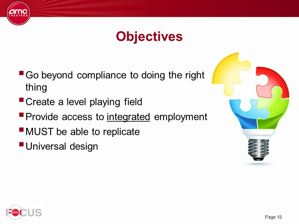 Objectives Go beyond compliance to doing the right thing