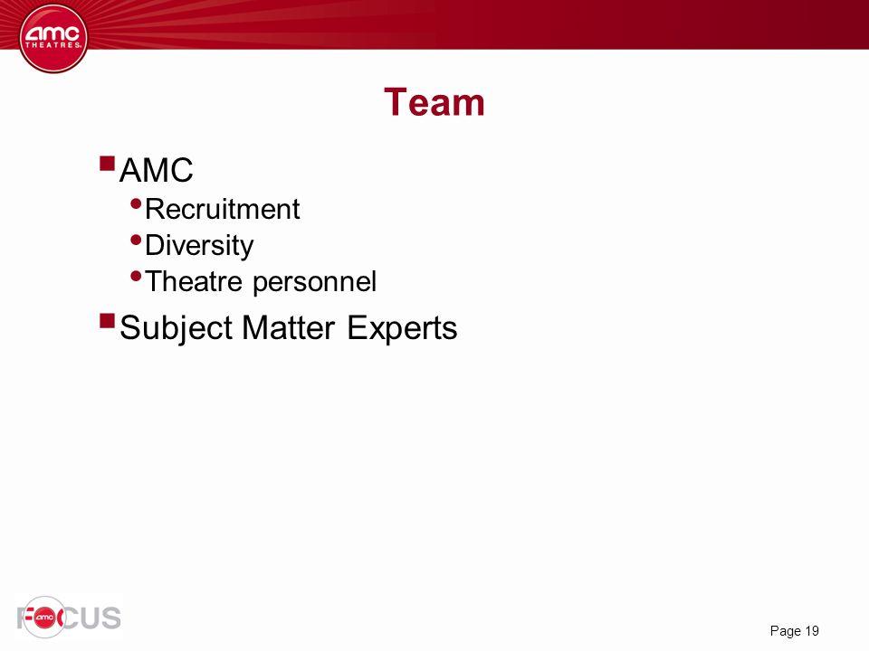 Team AMC Subject Matter Experts Recruitment Diversity