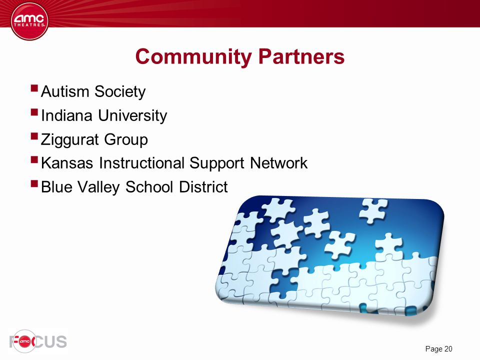 Community Partners Autism Society Indiana University Ziggurat Group