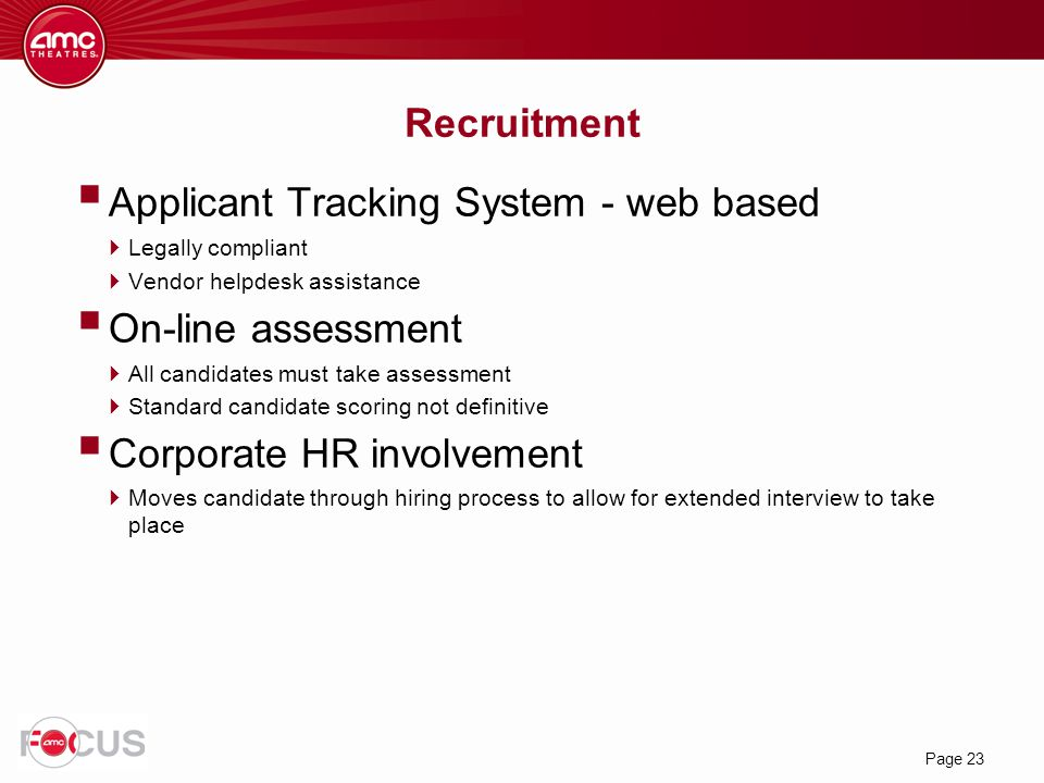 Applicant Tracking System - web based On-line assessment