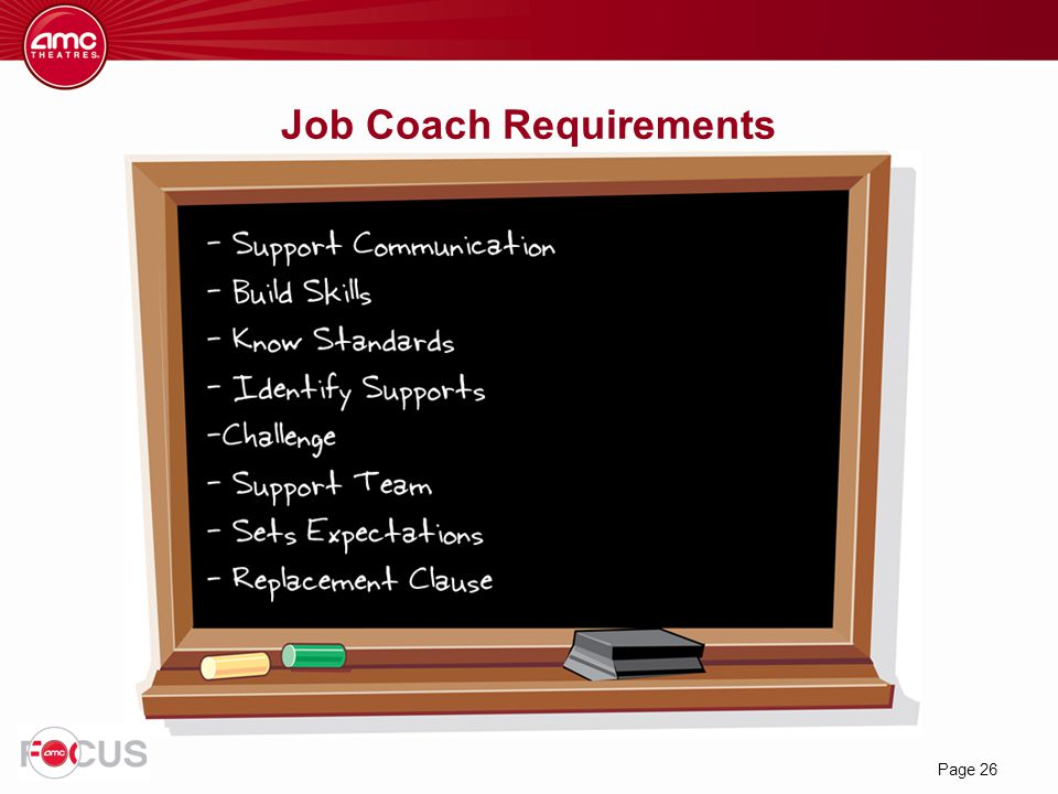 Job Coach Requirements