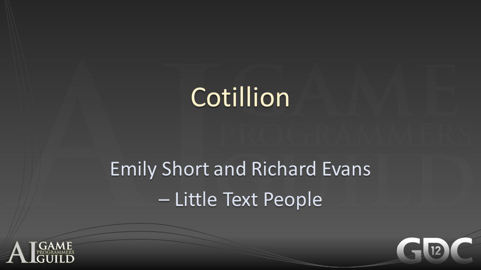 Emily Short and Richard Evans – Little Text People