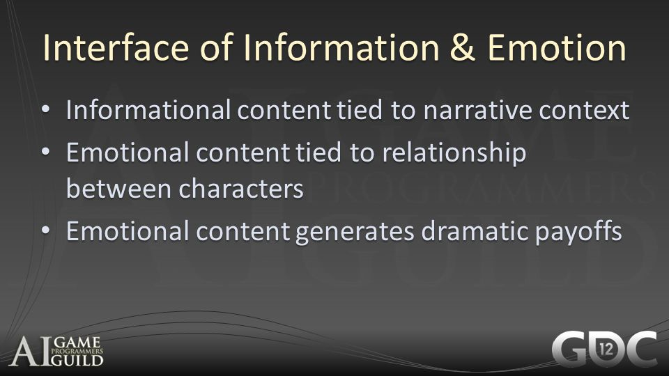 Interface of Information & Emotion