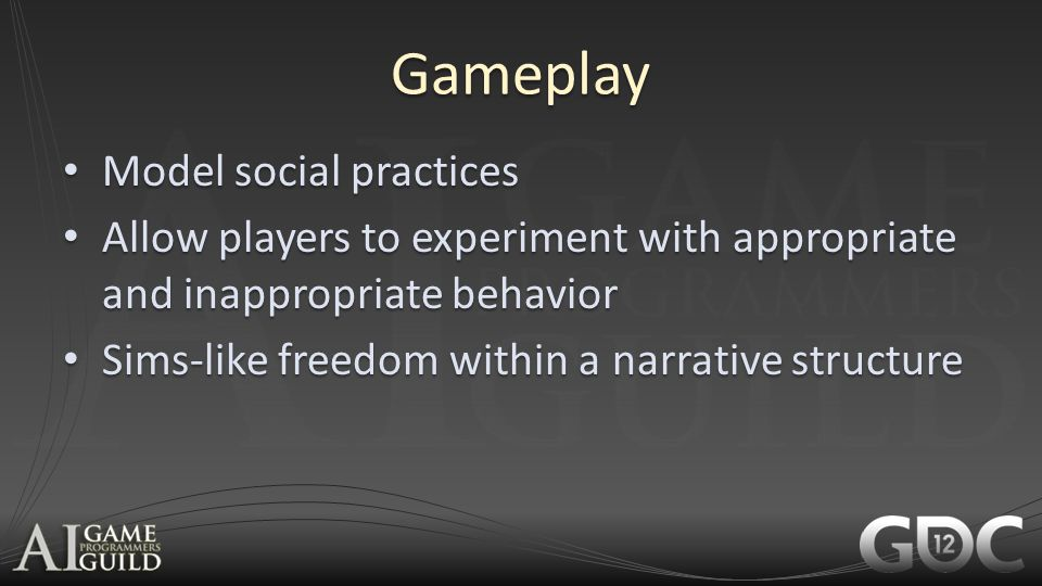 Gameplay Model social practices