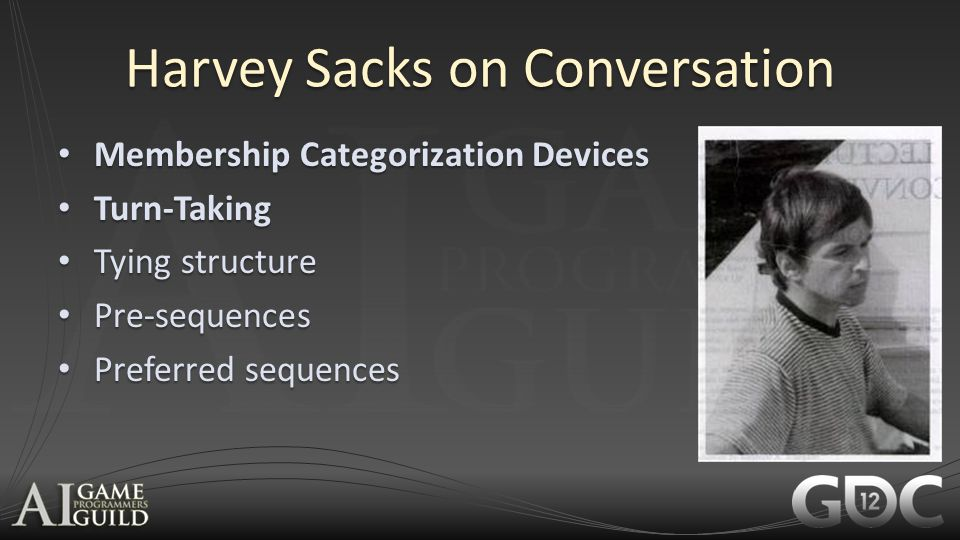 Harvey Sacks on Conversation