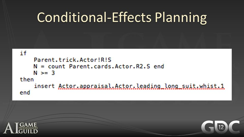 Conditional-Effects Planning