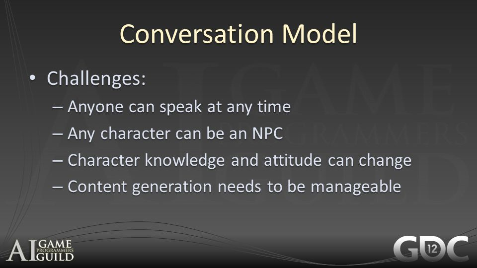 Conversation Model Challenges: Anyone can speak at any time