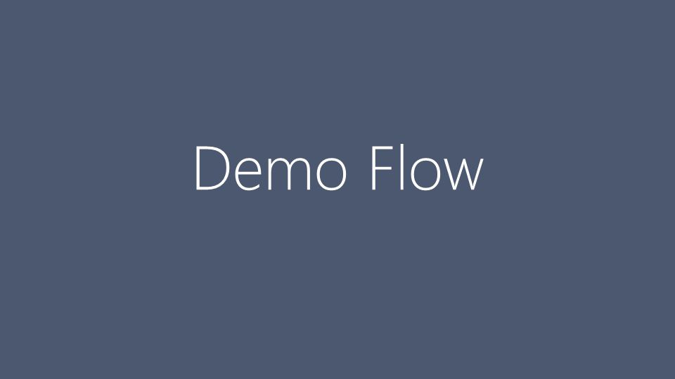 Demo Flow