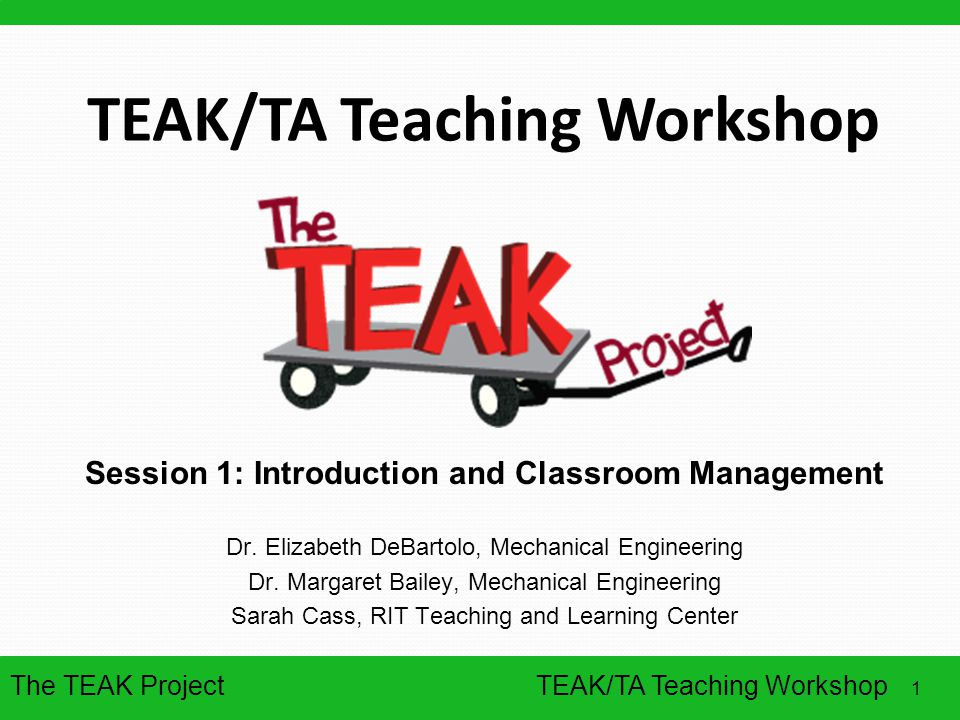 TEAK/TA Teaching Workshop