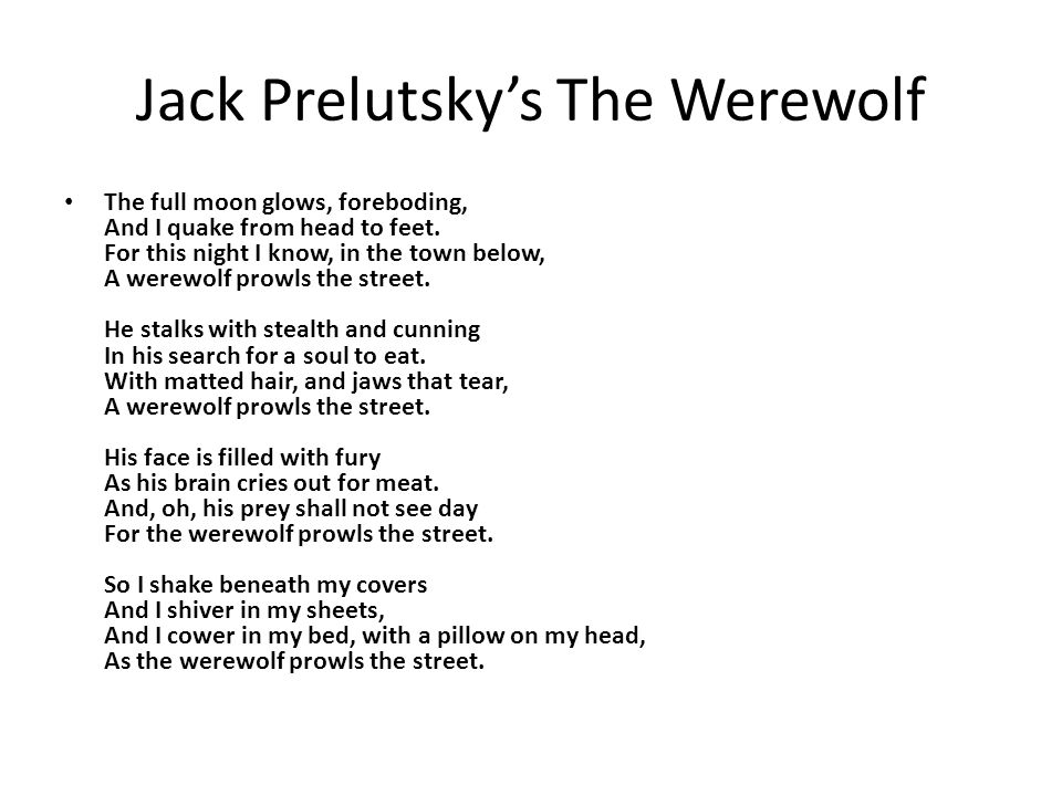 Jack Prelutsky's The Werewolf
