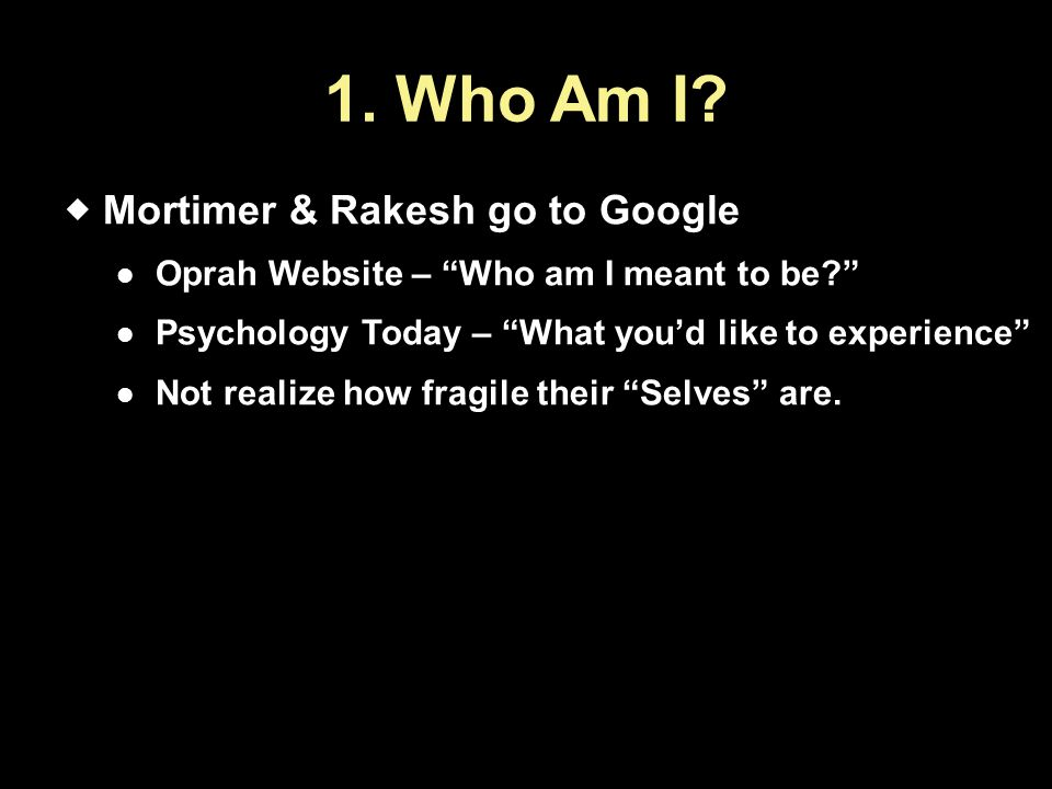 1. Who Am I Mortimer & Rakesh go to Google