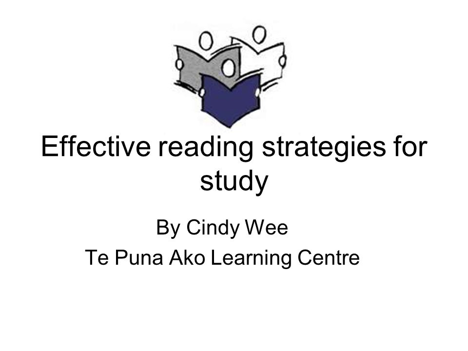 Effective reading strategies for study