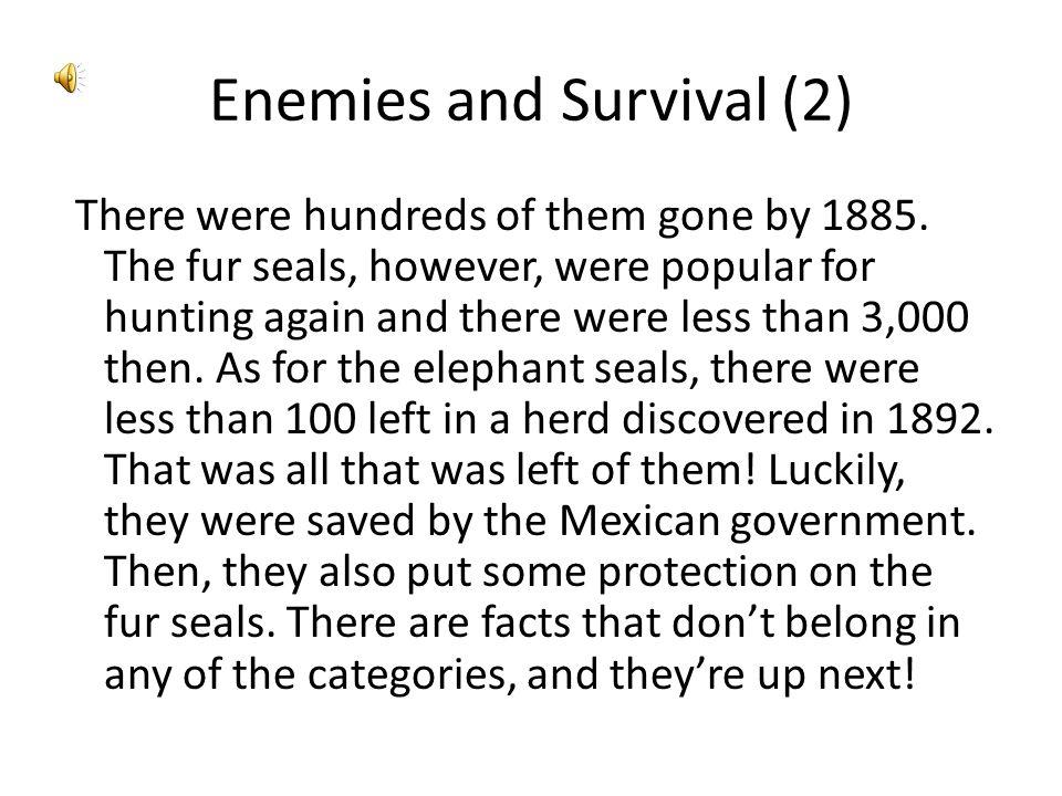 Enemies and Survival (2)