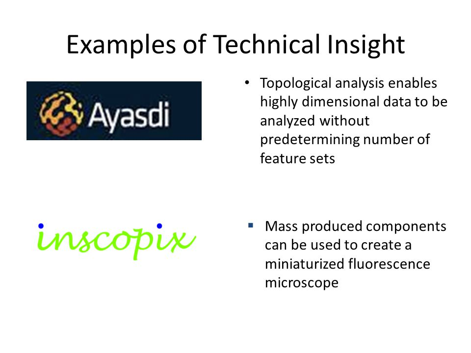Examples of Technical Insight
