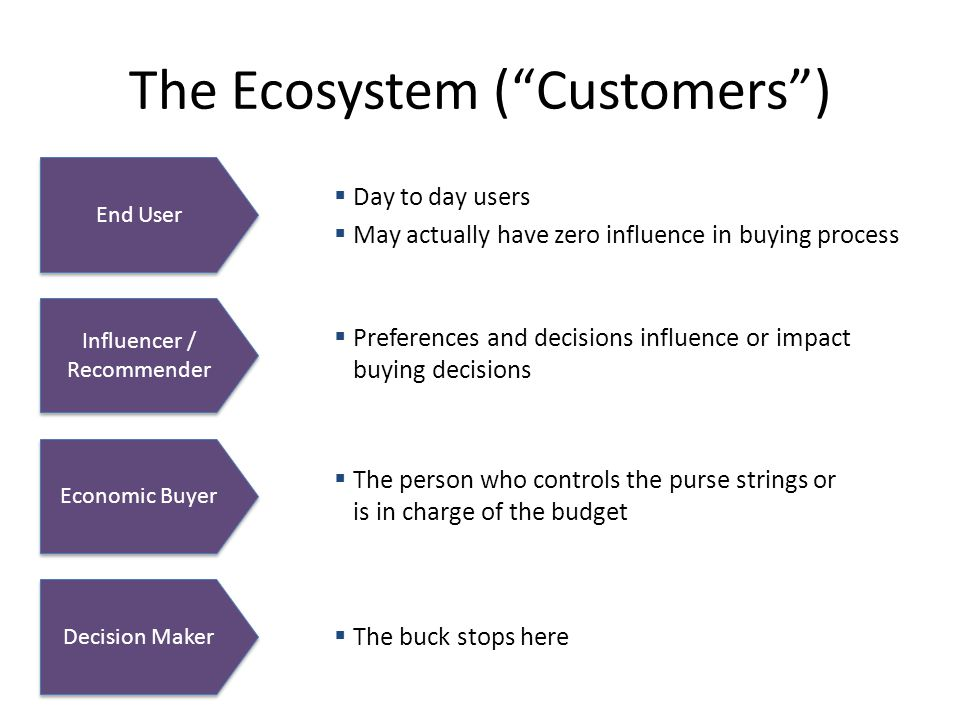 The Ecosystem ( Customers )