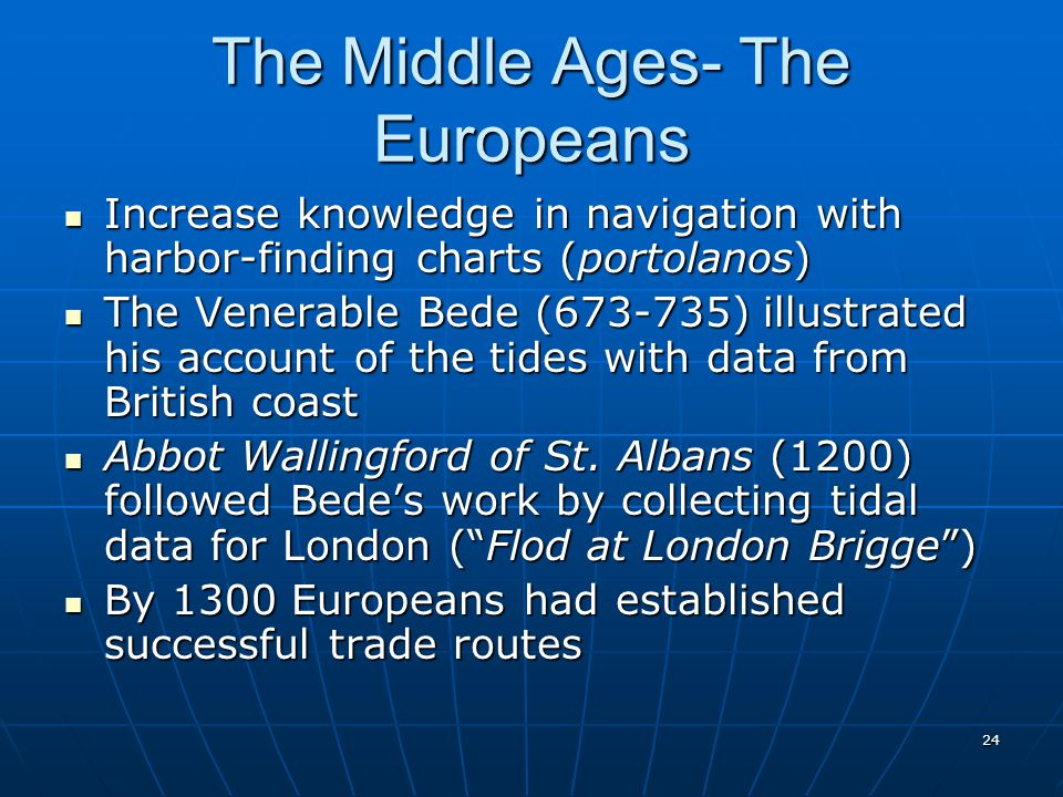The Middle Ages- The Europeans