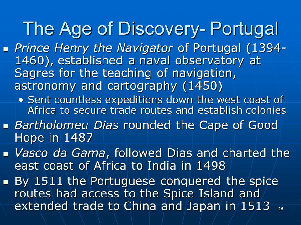 The Age of Discovery- Portugal