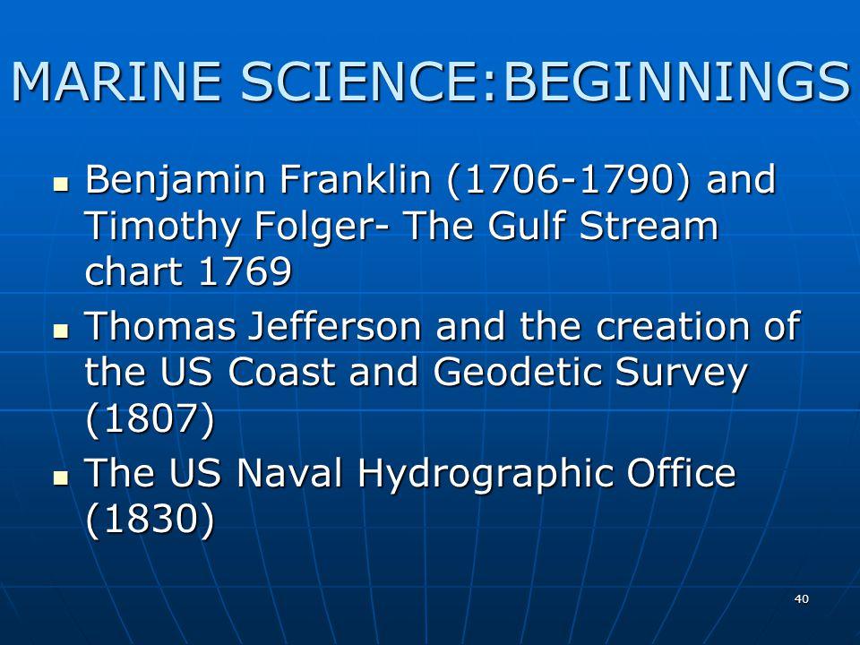 MARINE SCIENCE:BEGINNINGS