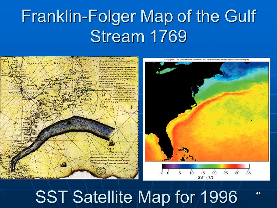 Franklin-Folger Map of the Gulf Stream 1769