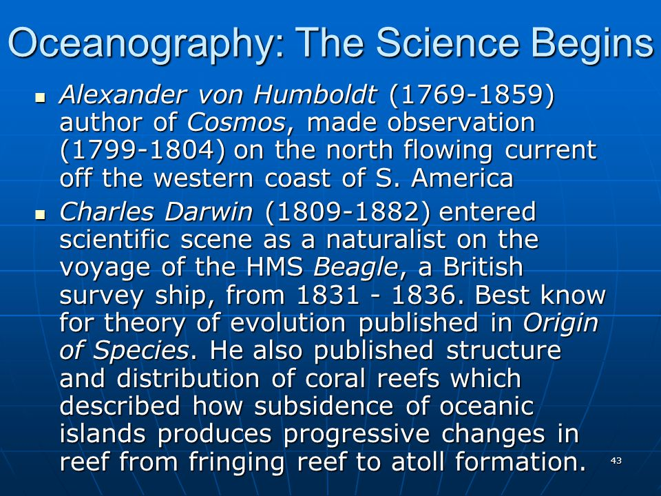 Oceanography: The Science Begins
