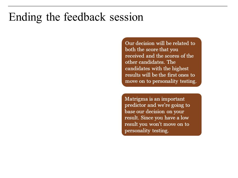 Ending the feedback session