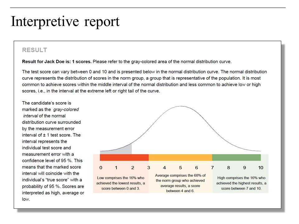 Interpretive report