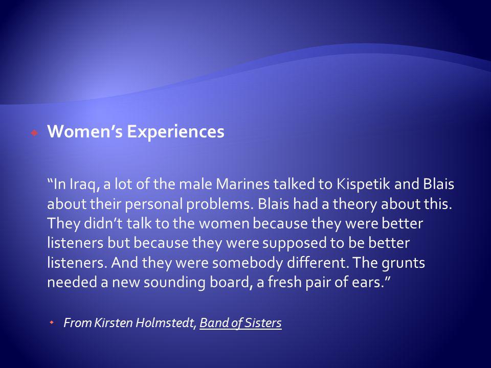 Women's Experiences