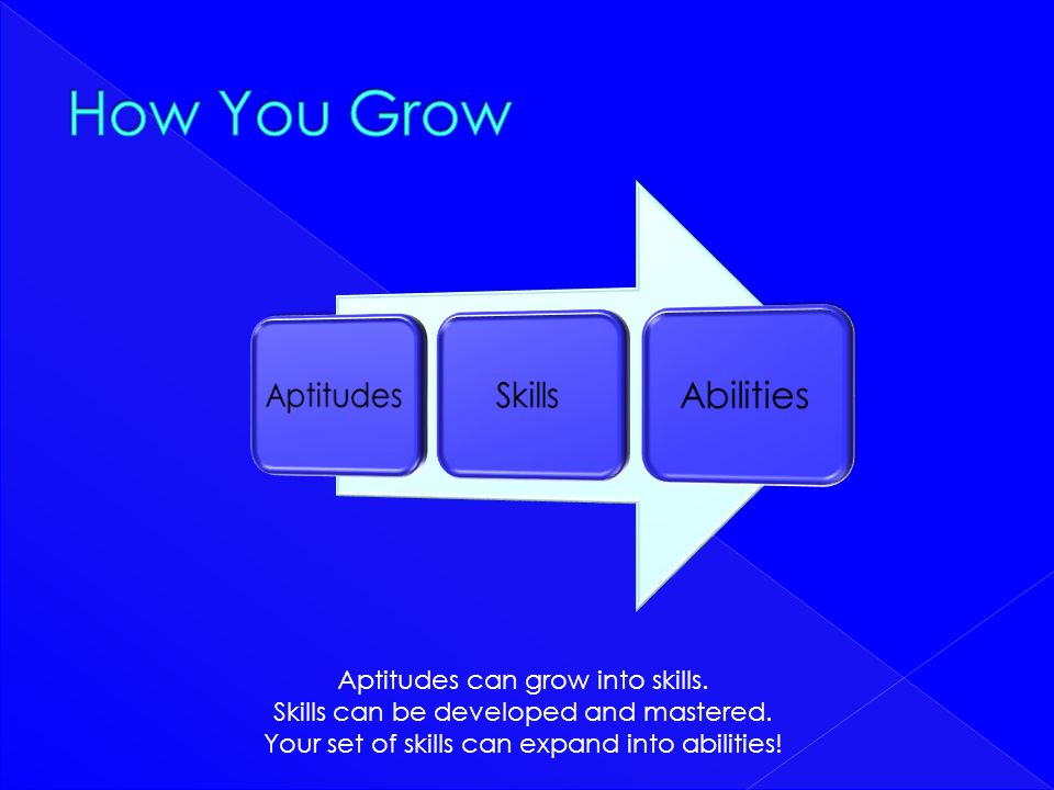 How You Grow Aptitudes Skills Abilities