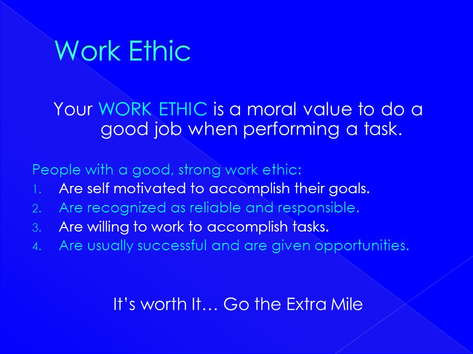 It's worth It… Go the Extra Mile