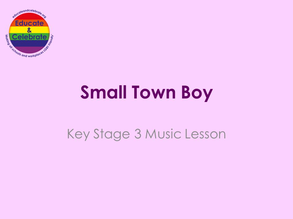 Small Town Boy Key Stage 3 Music Lesson