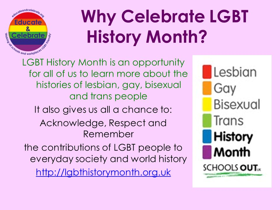 Why Celebrate LGBT History Month