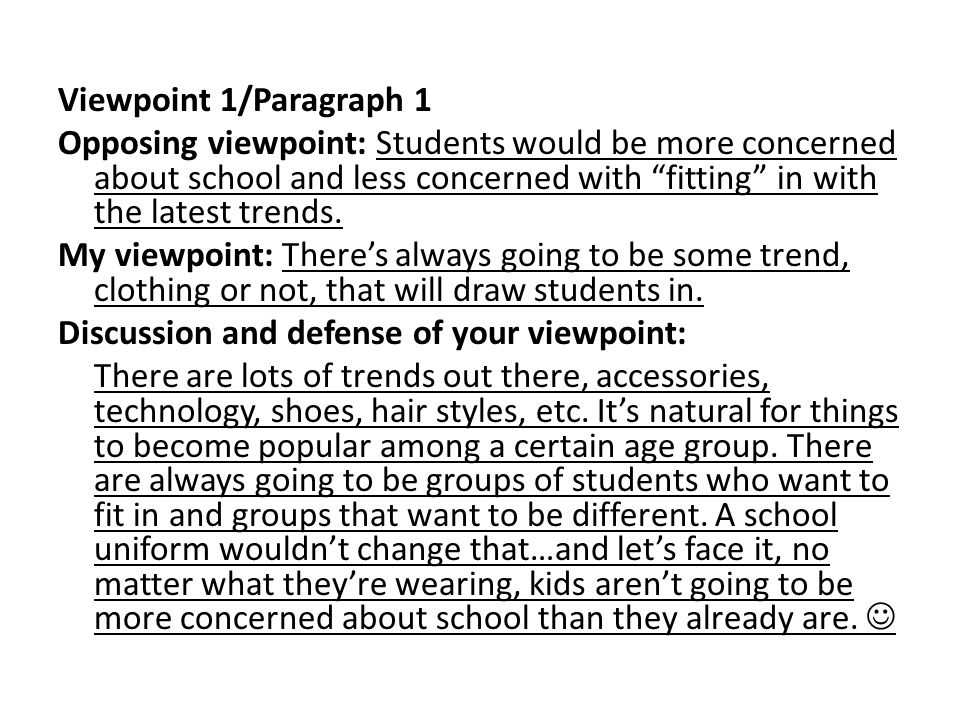 Viewpoint 1/Paragraph 1