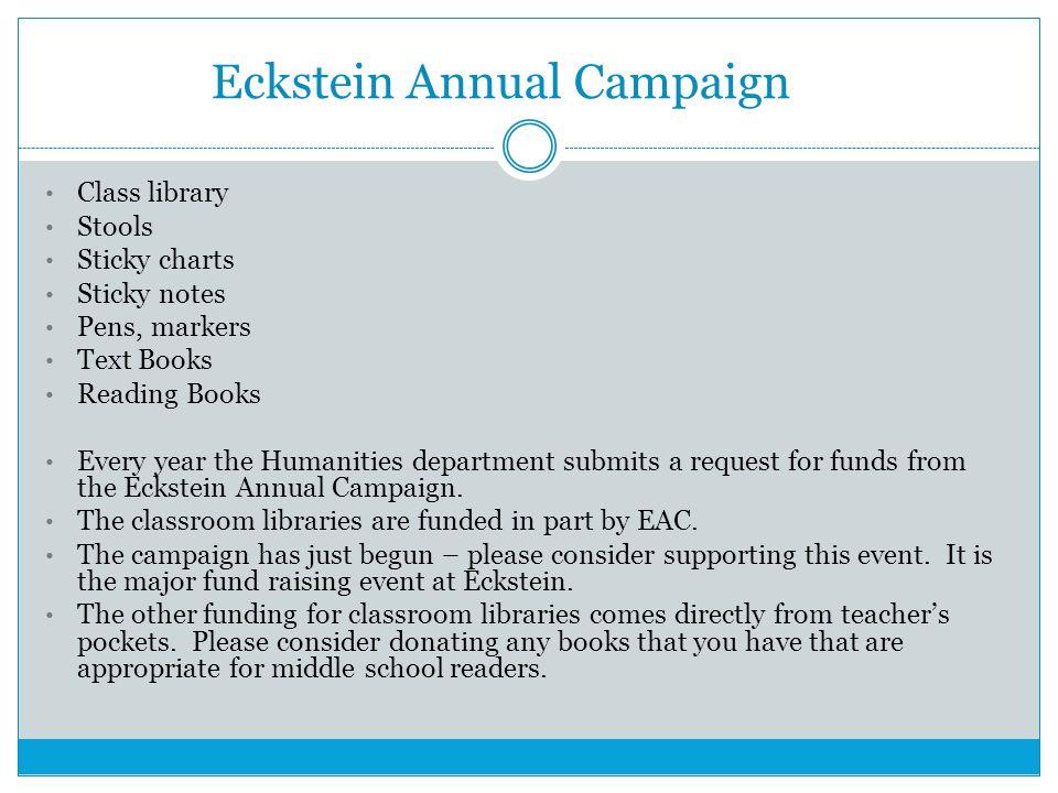 Eckstein Annual Campaign