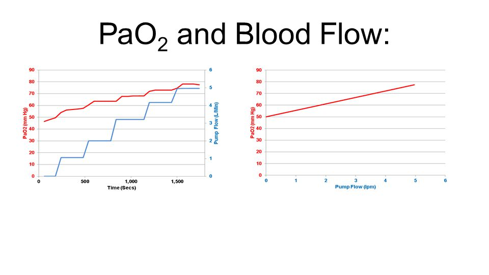 PaO2 and Blood Flow: Again, if we look at this graphically….